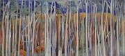 Lavender Pines, triptych, mixed media, 70cm x 150cm